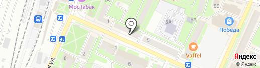 Рими на карте Пушкино