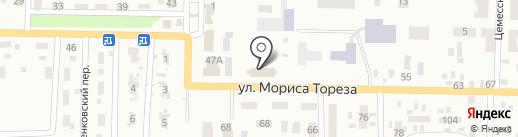 Червоногвардійський районний суд на карте Макеевки