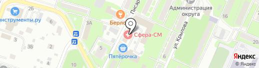 Юнит-Мед на карте Пушкино