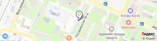 Магазин овощей и фруктов на карте Пушкино