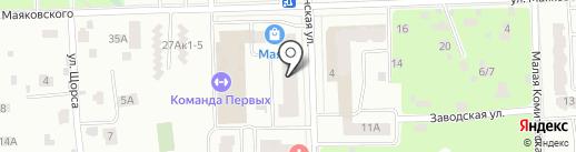 Навигатор на карте Юбилейного