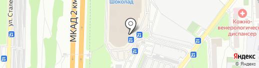 Шоколадница на карте Реутова