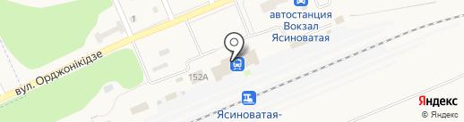 Магазин по продаже печатной продукции на ул. Орджоникидзе (г. Ясиноватая) на карте Ясиноватой
