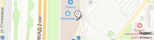 Radius-line на карте Реутова