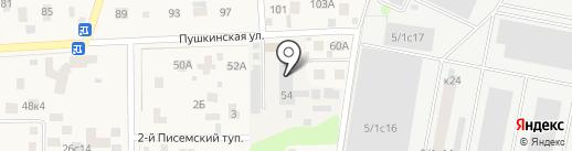 Лагуна-Пласт на карте Пушкино