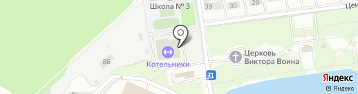 Котельники на карте Котельников