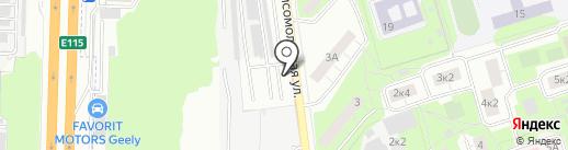 Автостоянка на Комсомольской на карте Реутова