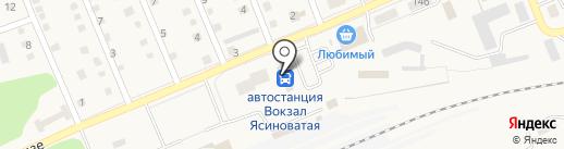 Ясиноватая на карте Ясиноватой