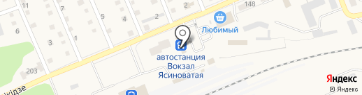 Капитошка на карте Ясиноватой