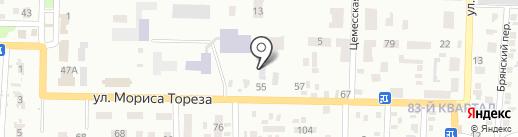 Автомойка на ул. Мориса Тореза на карте Макеевки