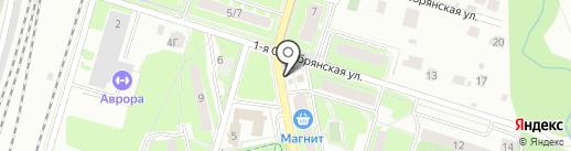 Киоск фруктов и овощей на карте Пушкино
