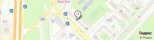 АКБ Росбанк на карте Реутова