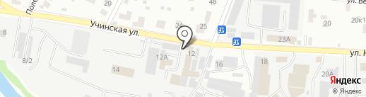 Магазин автозапчастей на карте Пушкино