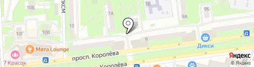 Киоск по продаже хлебобулочных изделий на карте Королёва