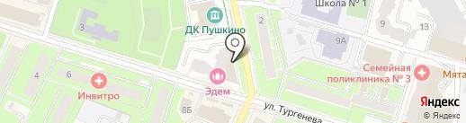 Банкомат, Сбербанк, ПАО на карте Пушкино