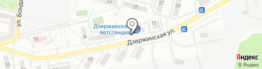 Доктор-Вет на карте Дзержинского