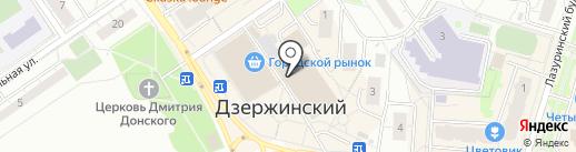 Дымов на карте Дзержинского
