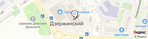 Магазин выпечки на карте Дзержинского