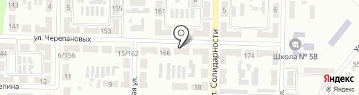 Витязь на карте Макеевки