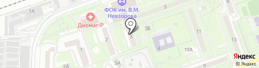 Магазин автозапчастей на ул. Октября на карте Реутова