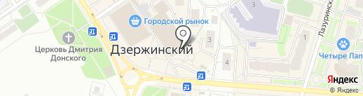 Магазин строительных материалов на карте Дзержинского
