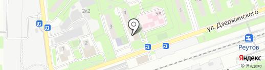 Неон на карте Реутова