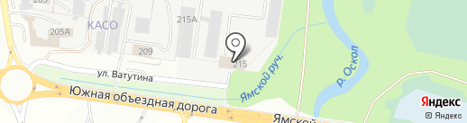 ЭФКО на карте Старого Оскола