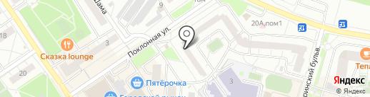 Дива на карте Дзержинского