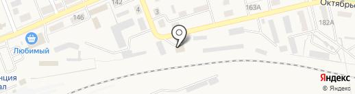 Автомойка на Октябрьской на карте Ясиноватой