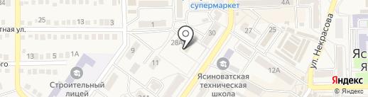 Ясиноватская теплосеть, КП на карте Ясиноватой