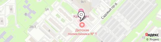 Городская детская поликлиника на карте Реутова
