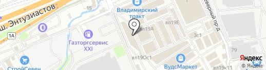 ВинилТекс на карте Реутова