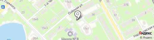 Дом окон на карте Пушкино