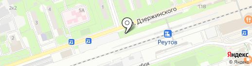 Андрос Фактор на карте Реутова