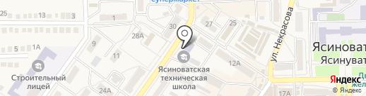 Ясиноватский центр профессионального развития персонала на карте Ясиноватой
