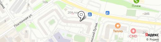 Азимут на карте Дзержинского