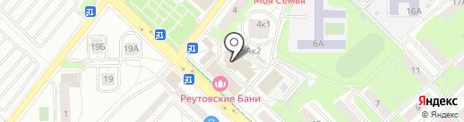 Монтажник на карте Реутова