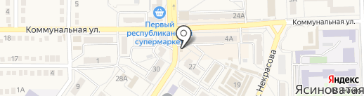 Феникс, продуктовый магазин на карте Ясиноватой
