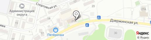 Почтовое отделение №140090 на карте Дзержинского