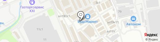 Магазин отделочных и строительных материалов на карте Реутова