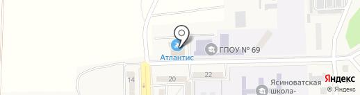 Атлантис, спортивно-оздоровительный комплекс на карте Ясиноватой