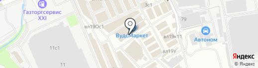 Магазин напольных покрытий на карте Реутова