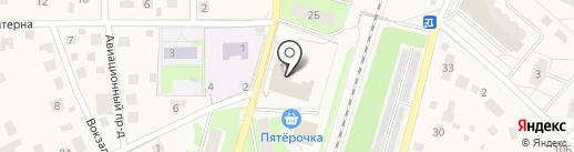 Строитель на карте Пушкино