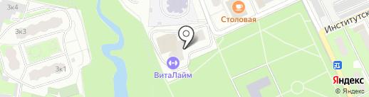 Цифра Один на карте Пушкино