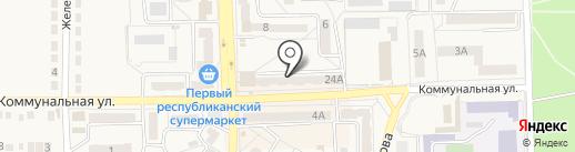 Украина, продуктовый магазин на карте Ясиноватой