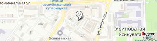 Познайка на карте Ясиноватой