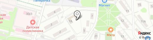 Отдел здравоохранения на карте Дзержинского