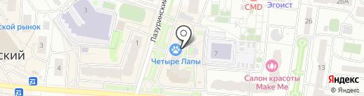 Четыре лапы на карте Дзержинского