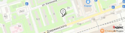 Автостоянка на карте Реутова