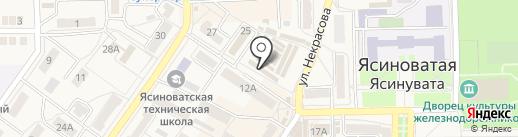 Ирбис на карте Ясиноватой